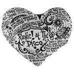 Panic! At The Disco Lyric Quotes Large 19  Premium Flano Heart Shape Cushions Front