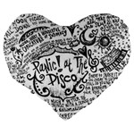 Panic! At The Disco Lyric Quotes Large 19  Premium Flano Heart Shape Cushions Back
