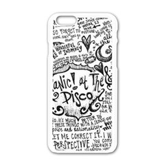 Panic! At The Disco Lyric Quotes Apple iPhone 6/6S White Enamel Case