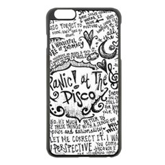 Panic! At The Disco Lyric Quotes Apple Iphone 6 Plus/6s Plus Black Enamel Case