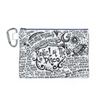 Panic! At The Disco Lyric Quotes Canvas Cosmetic Bag (M) Front
