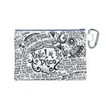 Panic! At The Disco Lyric Quotes Canvas Cosmetic Bag (M) Back