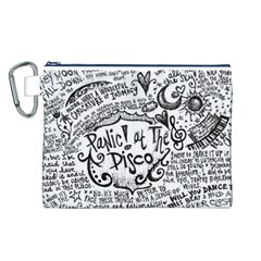Panic! At The Disco Lyric Quotes Canvas Cosmetic Bag (L)