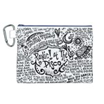 Panic! At The Disco Lyric Quotes Canvas Cosmetic Bag (L) Front