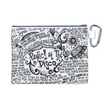 Panic! At The Disco Lyric Quotes Canvas Cosmetic Bag (L) Back