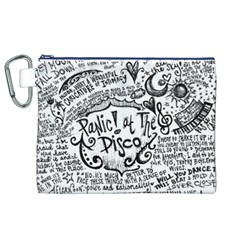 Panic! At The Disco Lyric Quotes Canvas Cosmetic Bag (XL)