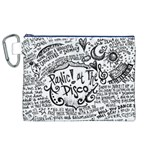 Panic! At The Disco Lyric Quotes Canvas Cosmetic Bag (XL) Front