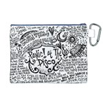 Panic! At The Disco Lyric Quotes Canvas Cosmetic Bag (XL) Back