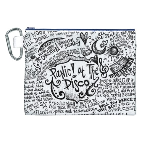 Panic! At The Disco Lyric Quotes Canvas Cosmetic Bag (XXL)