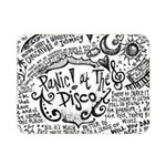 Panic! At The Disco Lyric Quotes Double Sided Flano Blanket (Mini)  35 x27 Blanket Back