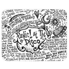 Panic! At The Disco Lyric Quotes Double Sided Flano Blanket (medium)