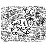 Panic! At The Disco Lyric Quotes Double Sided Flano Blanket (Medium)  60 x50 Blanket Back