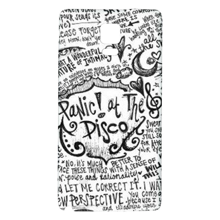 Panic! At The Disco Lyric Quotes Galaxy Note 4 Back Case