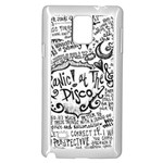Panic! At The Disco Lyric Quotes Samsung Galaxy Note 4 Case (White) Front