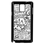 Panic! At The Disco Lyric Quotes Samsung Galaxy Note 4 Case (Black) Front
