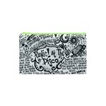 Panic! At The Disco Lyric Quotes Cosmetic Bag (XS) Front