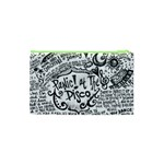 Panic! At The Disco Lyric Quotes Cosmetic Bag (XS) Back