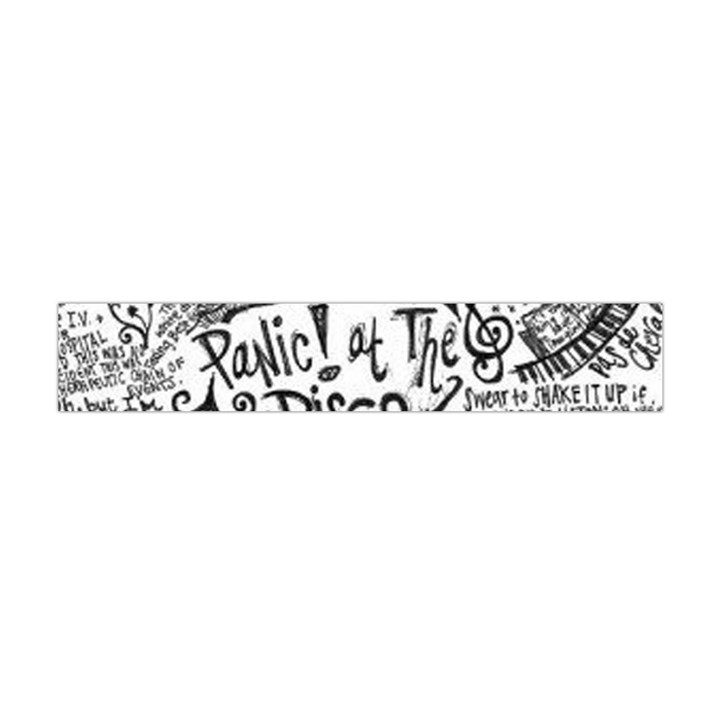 Panic! At The Disco Lyric Quotes Flano Scarf (Mini)