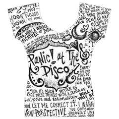 Panic! At The Disco Lyric Quotes Women s V-Neck Cap Sleeve Top