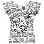 Panic! At The Disco Lyric Quotes Women s V-Neck Cap Sleeve Top Back