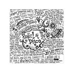 Panic! At The Disco Lyric Quotes Small Satin Scarf (Square) Front