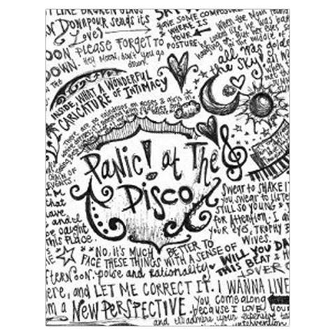 Panic! At The Disco Lyric Quotes Drawstring Bag (Large)
