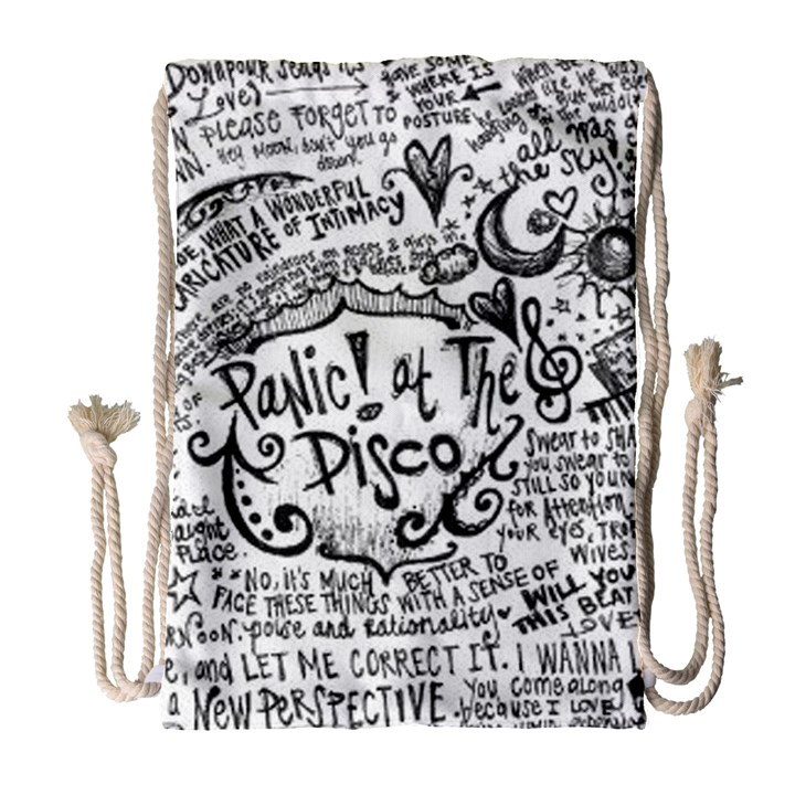 Panic! At The Disco Lyric Quotes Drawstring Bag (Large)