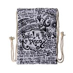 Panic! At The Disco Lyric Quotes Drawstring Bag (Small) Back