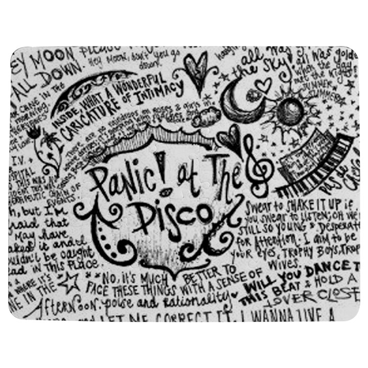 Panic! At The Disco Lyric Quotes Jigsaw Puzzle Photo Stand (Rectangular)