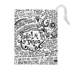 Panic! At The Disco Lyric Quotes Drawstring Pouches (Extra Large) Front
