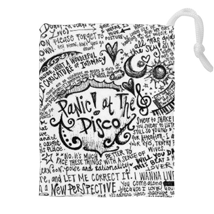 Panic! At The Disco Lyric Quotes Drawstring Pouches (XXL)
