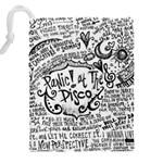 Panic! At The Disco Lyric Quotes Drawstring Pouches (XXL) Back