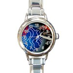 Panic! At The Disco Released Death Of A Bachelor Round Italian Charm Watch Front