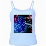 Panic! At The Disco Released Death Of A Bachelor Baby Blue Spaghetti Tank Front