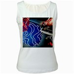 Panic! At The Disco Released Death Of A Bachelor Women s White Tank Top Front