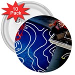Panic! At The Disco Released Death Of A Bachelor 3  Buttons (10 pack)  Front