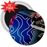 Panic! At The Disco Released Death Of A Bachelor 3  Magnets (10 pack)  Front