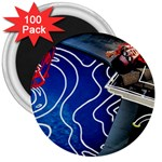 Panic! At The Disco Released Death Of A Bachelor 3  Magnets (100 pack) Front