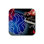 Panic! At The Disco Released Death Of A Bachelor Rubber Square Coaster (4 pack)  Front