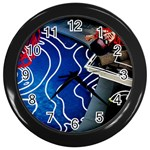 Panic! At The Disco Released Death Of A Bachelor Wall Clocks (Black) Front