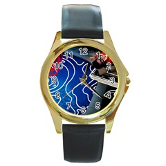 Panic! At The Disco Released Death Of A Bachelor Round Gold Metal Watch