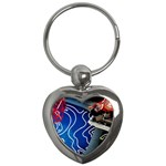 Panic! At The Disco Released Death Of A Bachelor Key Chains (Heart)  Front