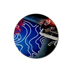 Panic! At The Disco Released Death Of A Bachelor Rubber Round Coaster (4 pack)  Front