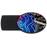 Panic! At The Disco Released Death Of A Bachelor USB Flash Drive Oval (4 GB)  Front