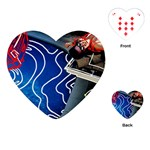 Panic! At The Disco Released Death Of A Bachelor Playing Cards (Heart)  Front