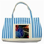 Panic! At The Disco Released Death Of A Bachelor Striped Blue Tote Bag Front