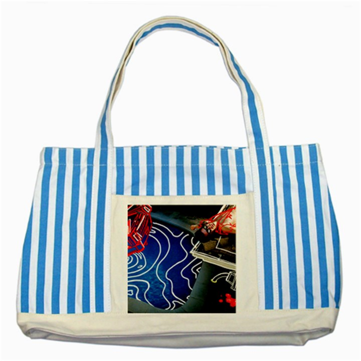 Panic! At The Disco Released Death Of A Bachelor Striped Blue Tote Bag