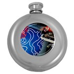 Panic! At The Disco Released Death Of A Bachelor Round Hip Flask (5 oz) Front