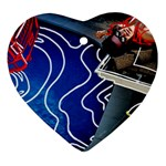 Panic! At The Disco Released Death Of A Bachelor Heart Ornament (2 Sides) Front