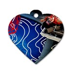 Panic! At The Disco Released Death Of A Bachelor Dog Tag Heart (One Side) Front